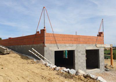 Construction des murs de soutènement